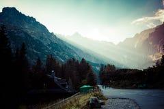 chmury caucasus kształtują obszar gór górskich shurovky ushba nieba gór Poland tatra Obraz Stock