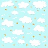 chmury deseniują bezszwowego royalty ilustracja
