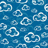 chmury deseniują bezszwowego wektor Zdjęcie Stock