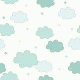 chmury deseniują bezszwowego Zdjęcia Royalty Free