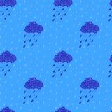 chmury deseniują bezszwowego Fotografia Stock