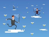 Chmury dla biznesu Cyfrowego biznesowy pojęcie Ilustracja Wektor