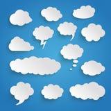 Chmury Duży Ustalony Błękitny tło ilustracja wektor
