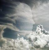 chmury głowa Fotografia Royalty Free