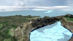 Chmury i cień nad cyfrowym terenem zdjęcie wideo