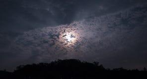Chmury i miesiące obraz royalty free