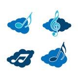 Chmury i muzyka ilustracja wektor