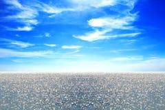 Chmury i nieba błękita morze w zmierzchu Zdjęcie Stock