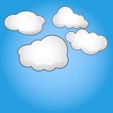 Chmury I niebo ilustracji