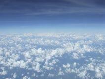 Chmury i niebo, widok na samolocie zdjęcia royalty free