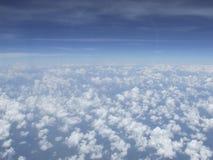 Chmury i niebo, widok na samolocie obraz royalty free