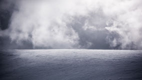 Chmury i śnieg Fotografia Royalty Free
