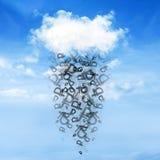 Chmury i pieniądze deszcz Fotografia Stock