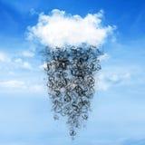 Chmury i pieniądze deszcz Zdjęcie Royalty Free