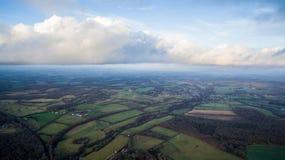 Chmury i pola, Zdjęcie Royalty Free