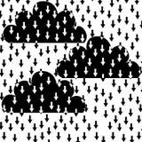 Chmury i strzała Zdjęcie Royalty Free