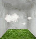 Chmury i trawa w pokoju ilustracji