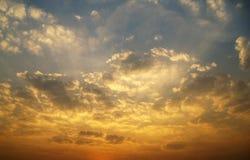 Chmury i zmierzch zdjęcie stock