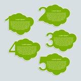 Chmury infographics liczby opcje Obraz Royalty Free