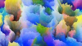 Chmury kolory Obraz Stock