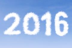 Chmury kształtować liczby 2016 Zdjęcia Stock