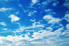 chmury latem Fotografia Stock