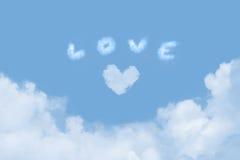 chmury miłość Fotografia Royalty Free