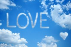 chmury miłości Fotografia Royalty Free