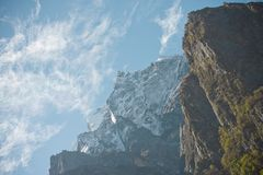 Chmury na szczycie Obrazy Stock