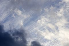Chmury na th niebie Fotografia Royalty Free