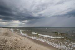 chmury nad burzą drogą morską Obraz Royalty Free