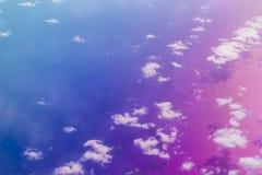 Chmury nad Crete morzem, widok z lotu ptaka, Grecja Fotografia Royalty Free
