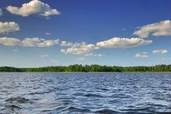 chmury nad jezioro Zdjęcie Royalty Free