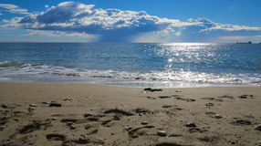 Chmury nad morzem śródziemnomorskim Fotografia Stock