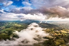 Chmury nad moutains fotografia royalty free