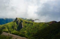 Chmury nad piękną wzgórze maderą Zdjęcie Royalty Free