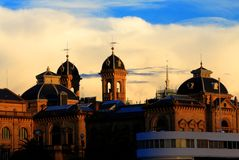 Chmury nad San Sebastian Hiszpania Obraz Stock