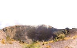 Chmury nad Vesuvius wulkanem i powulkanicznymi skałami Obrazy Royalty Free
