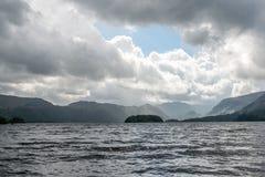 Chmury nad wielkim jeziorem Fotografia Royalty Free
