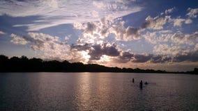 chmury nad wodą Obraz Royalty Free