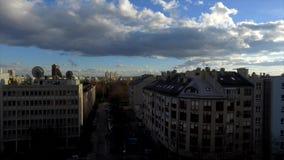 Chmury nad Zagreb miastem zdjęcie wideo