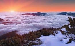 chmury nad zmierzch zima Zdjęcia Royalty Free