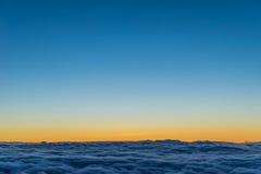 chmury nad zmierzchem Zdjęcie Royalty Free