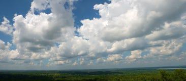 Chmury, niebo, panorama, Panoramiczna, sztandar zdjęcia royalty free