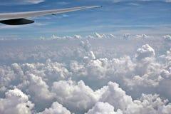 Chmury od wierzchołka Obrazy Royalty Free