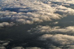 Chmury od wysokości samolot zdjęcie stock