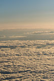 Chmury od wysokości samolot obrazy royalty free