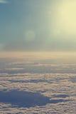 Chmury od wysokości samolot fotografia royalty free