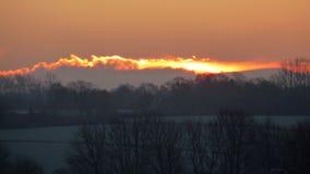 Chmury ogień Fotografia Royalty Free