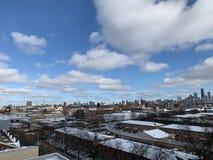 Chmury po śniegu w Chicago obraz royalty free